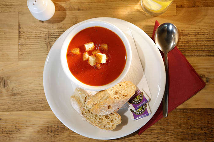 Soup of the day at Bedgebury Cafe